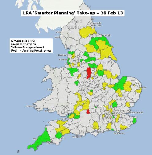 LPA SP take-up map 28 Feb 13