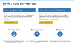 planning portal website screenshot